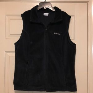 XL Columbia black fleece vest